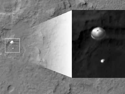 Mars Curiosity Parachute - HiRise