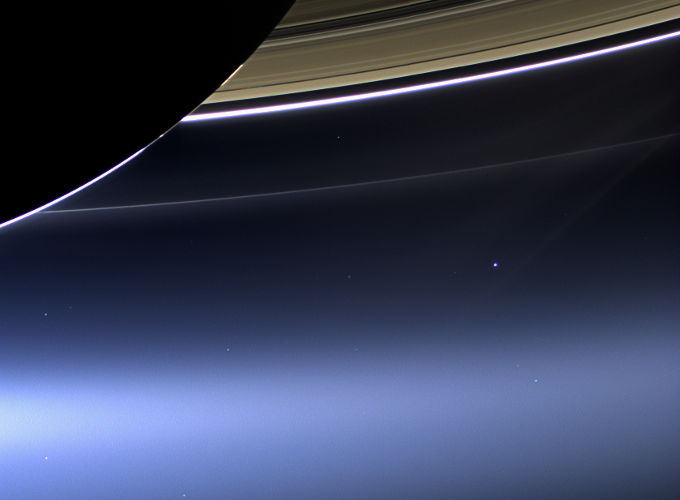 The Earth from Saturn