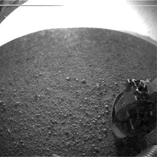 Mars Curiosity Rear Hazard Camera